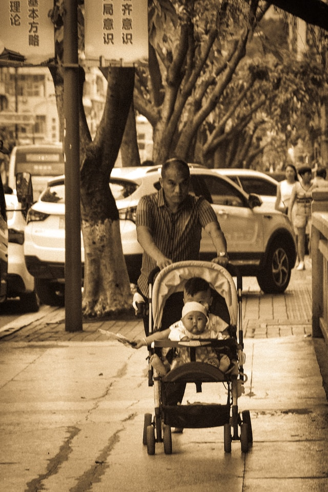 fatherly-love-product-mode-of-transport-baby-carriage-snapshot 图片素材