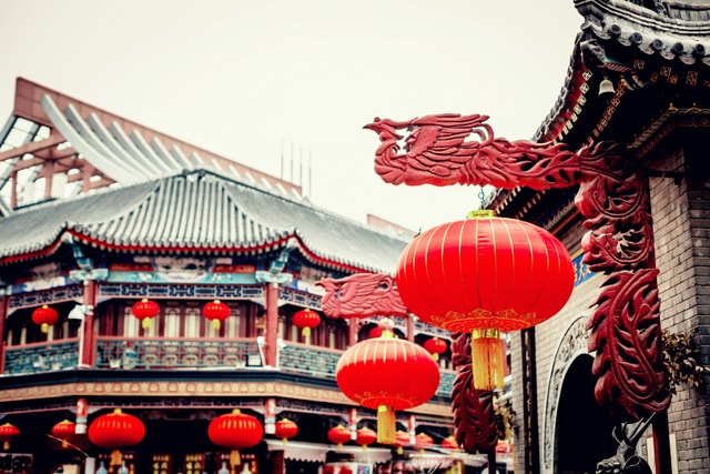 temple-chinese-architecture-red-architecture-lighting picture material