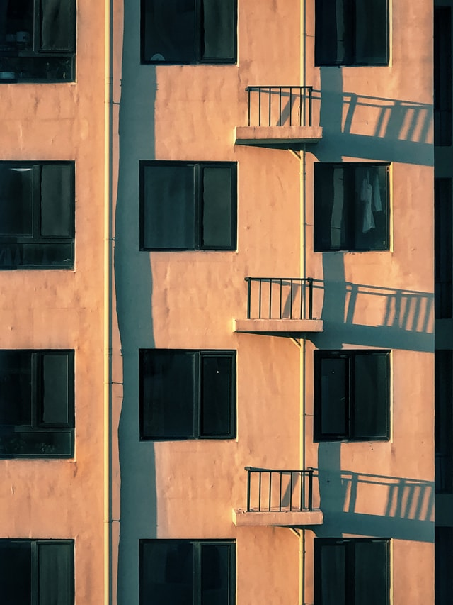 light-and-shadow-sunset-window-wall-facade picture material