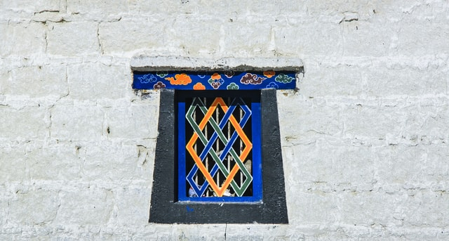 tibet-window-potala-palace-blue-wall picture material