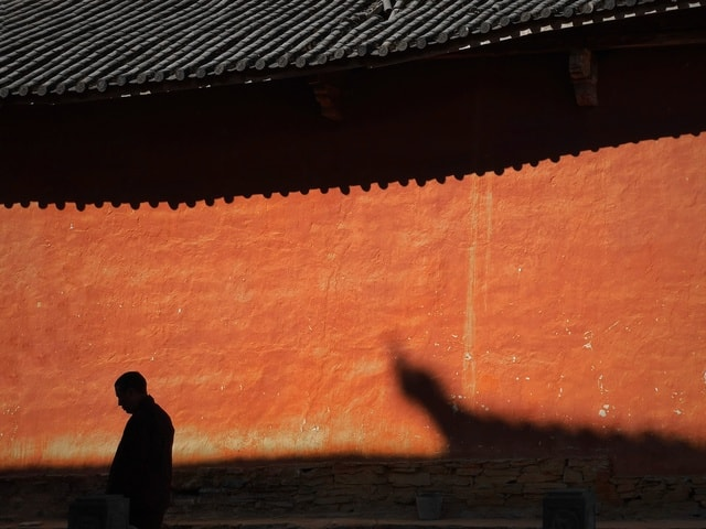light-and-shadow-religion-buddhism-temple-deaf picture material