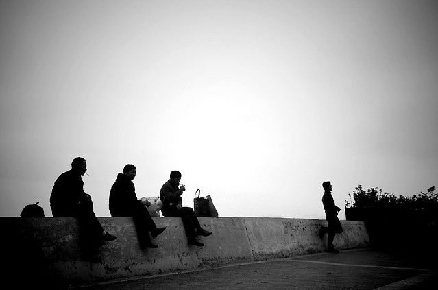people-man-group-monochrome-silhouette picture material
