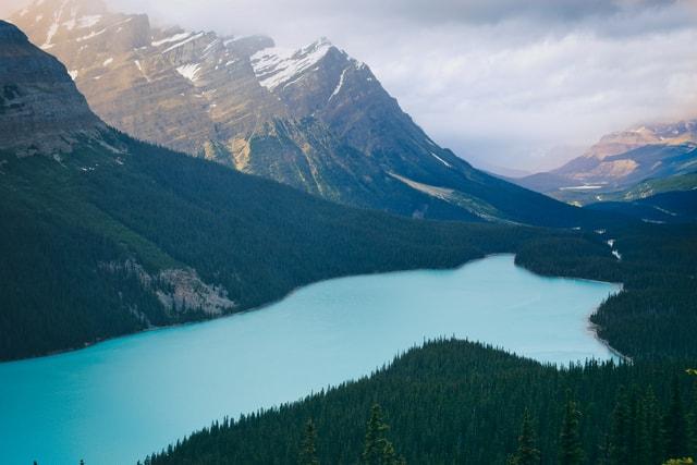 peyto-lake-canada-lake-mountainous-landforms-mountain 图片素材