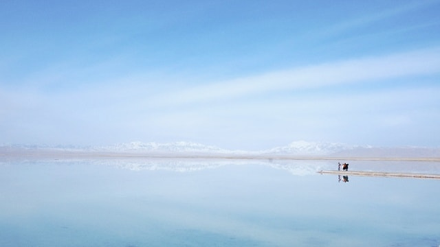 sky-water-blue-horizon-sea picture material