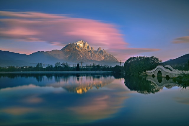 reflection-scenery-asaka-sunrise-light-and-shadow picture material
