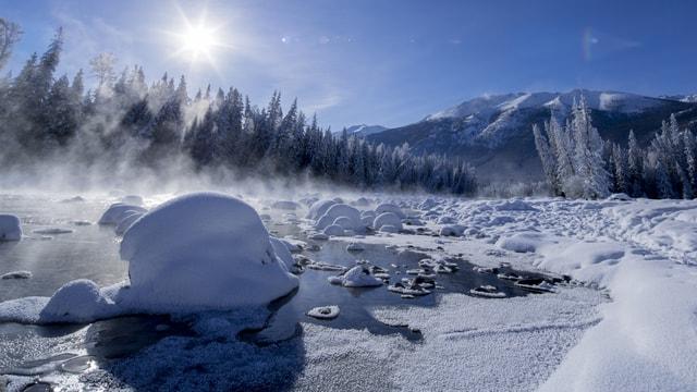 snow-skull-snowy-mountain-smog-winter-snow-nature 图片素材