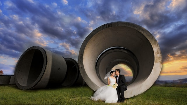 travel-wedding-dress-photograph-sky-tire picture material