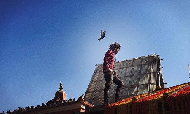 nepalese-sky-cloud-urban-area-flip-(acrobatic) picture material