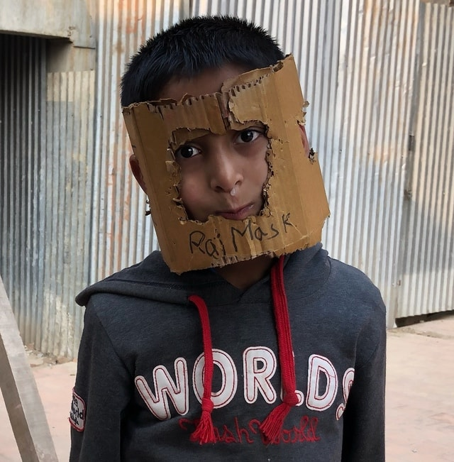 mask-portrait-boy-nepal-face picture material