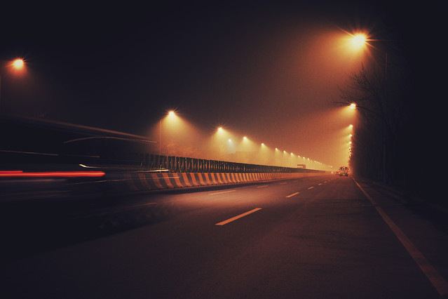 blur-sunset-street-highway-road picture material