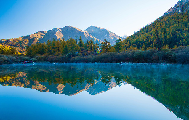 lake-water-no-person-nature-reflection picture material