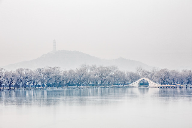 snow-water-winter-fog-lake picture material