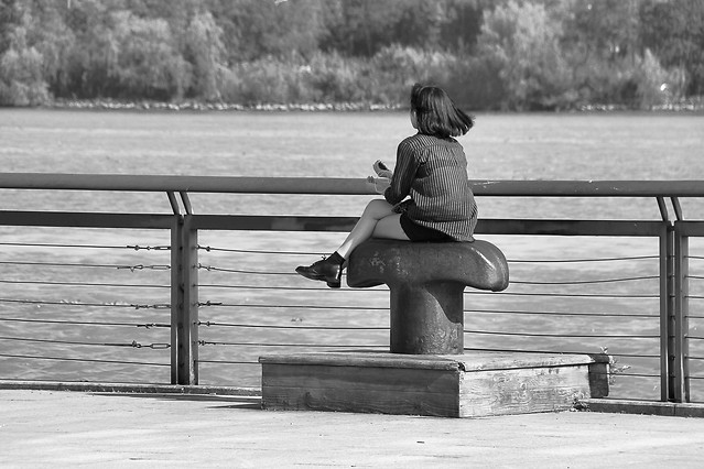people-monochrome-bench-adult-street picture material