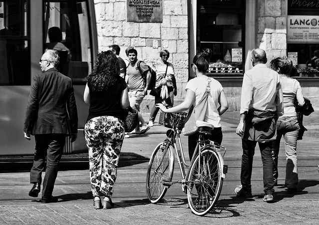 street-people-land-vehicle-monochrome-group picture material