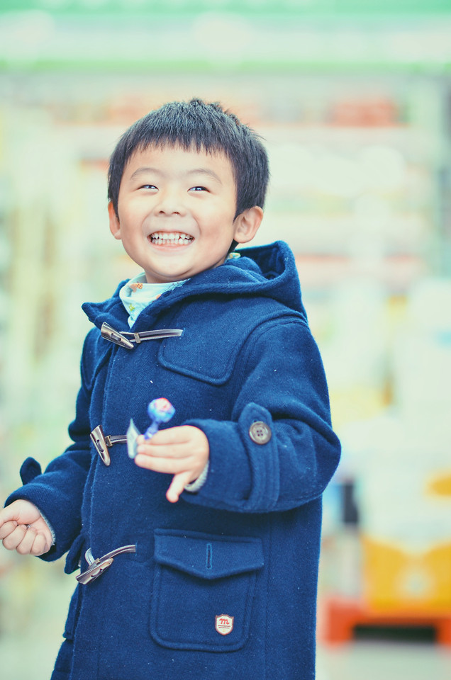 child-portrait-people-blue-little 图片素材