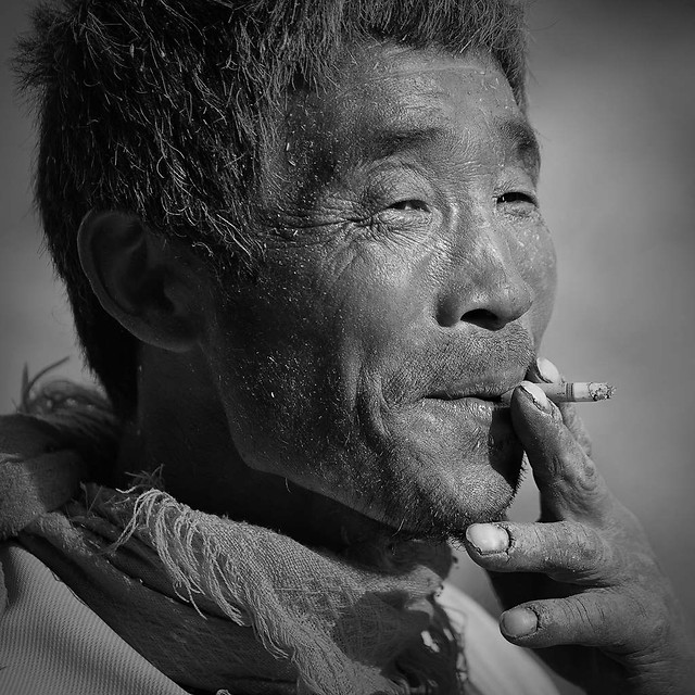 people-monochrome-portrait-man-one picture material