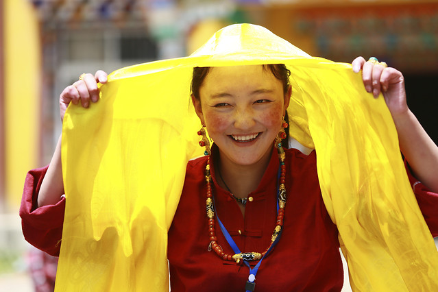 people-yellow-outdoors-woman-festival picture material