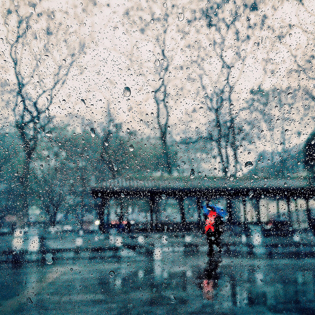 water-winter-reflection-people-rain picture material