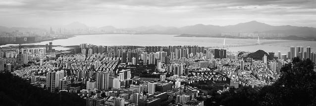 city-cityscape-skyline-skyscraper-panoramic picture material