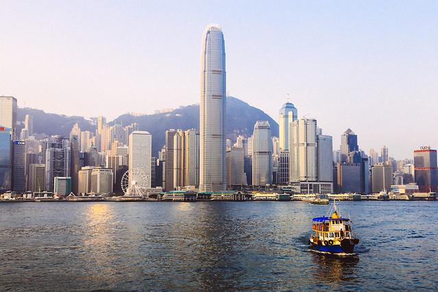 city-skyscraper-architecture-skyline-water picture material