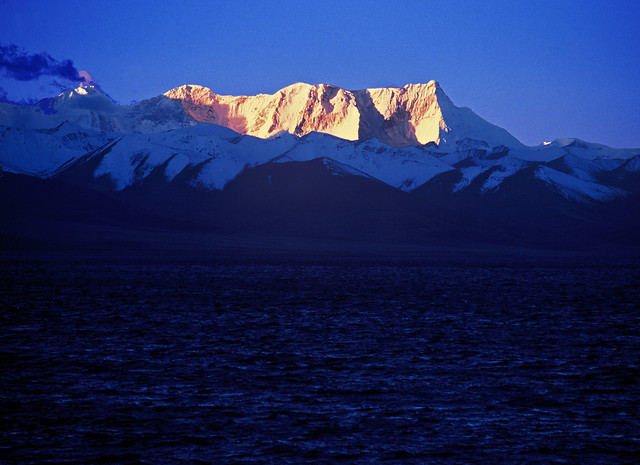 snow-no-person-sunset-mountain-evening picture material