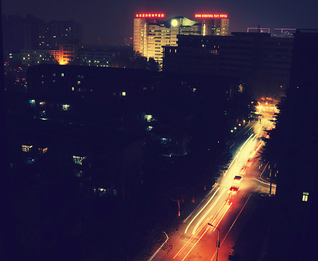 city-light-evening-night-road 图片素材