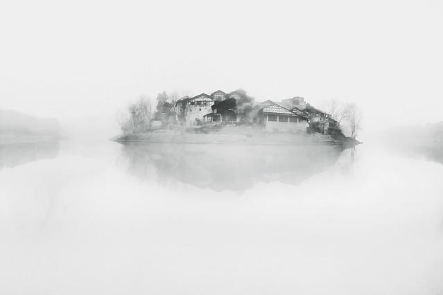 fog-winter-landscape-mist-snow picture material