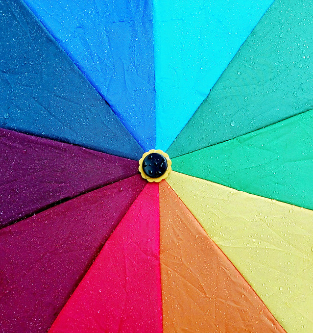 umbrella-abstract-rain-color-blue picture material