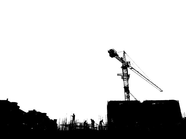 silhouette-industry-sky-no-person-black-white picture material