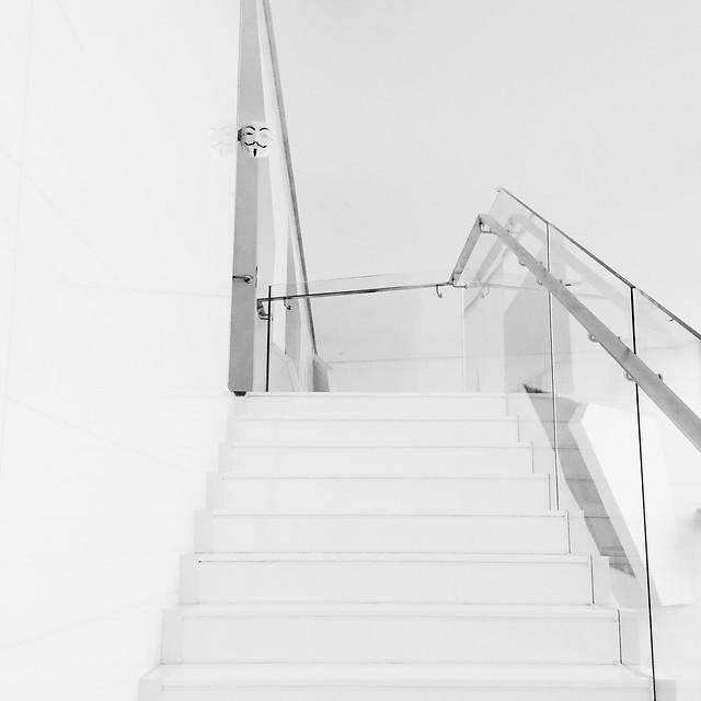 ladder-step-no-person-monochrome-black-white picture material