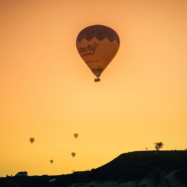balloon-hot-air-balloon-sunset-adventure-no-person picture material