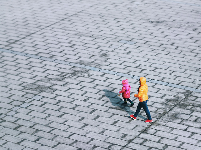 people-pavement-street-one-waterproof picture material