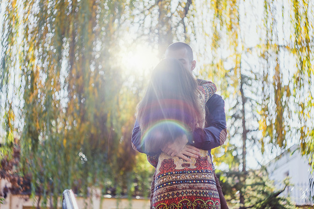 park-nature-fall-girl-outdoors picture material