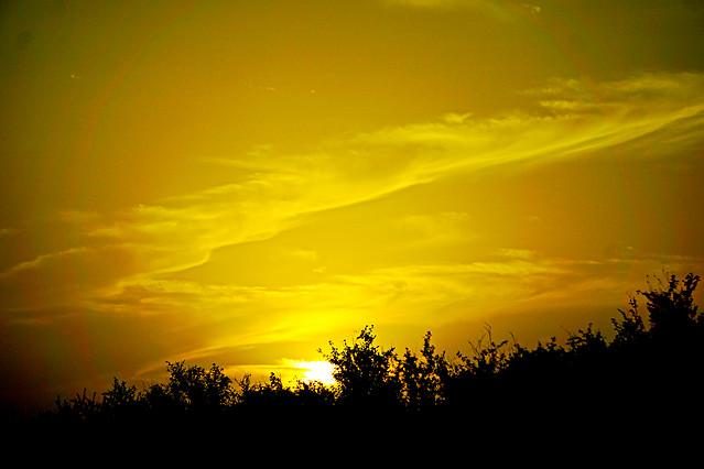 sunset-dawn-sun-sky-landscape picture material