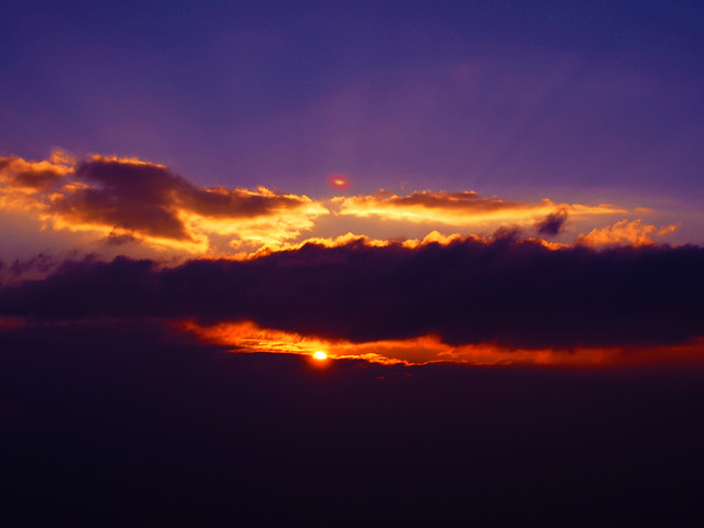 sunset-evening-sky-no-person-dawn picture material