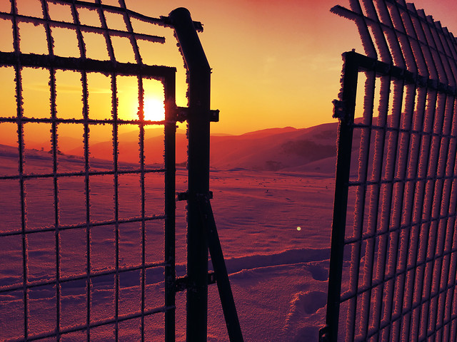 no-person-sunset-fence-sky-architecture 图片素材