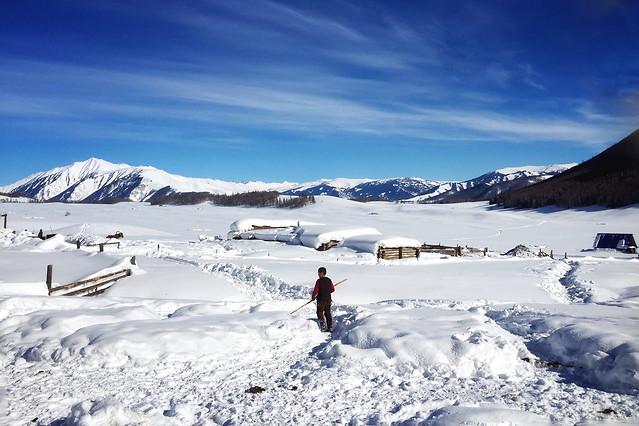 snow-winter-mountain-cold-no-person picture material