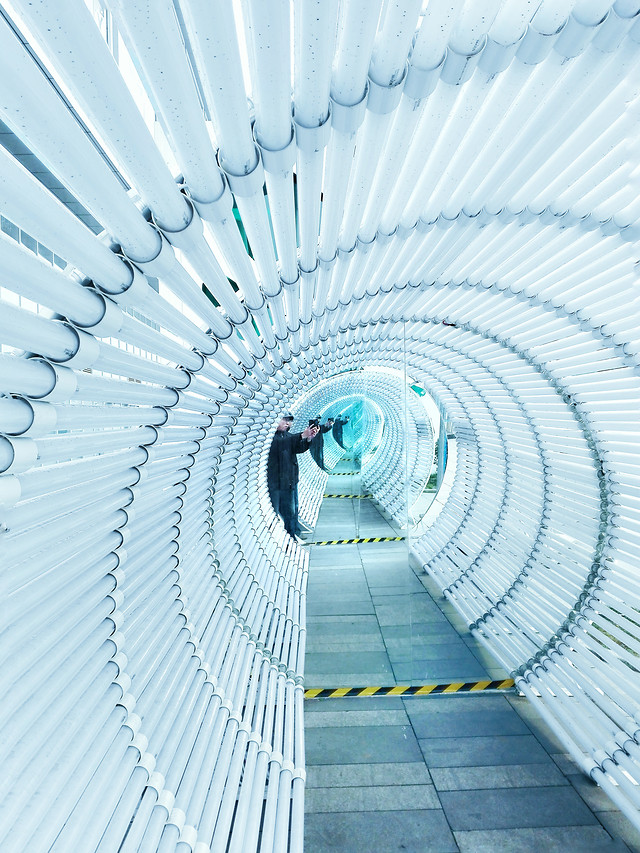 architecture-perspective-step-steel-no-person picture material