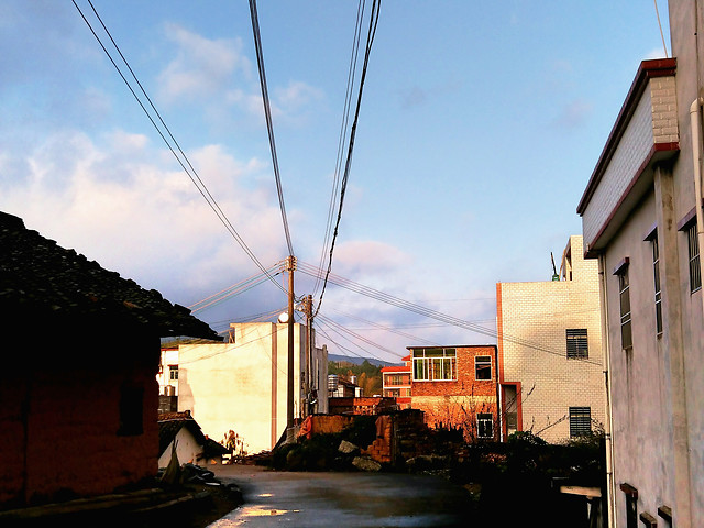 no-person-house-architecture-street-sky picture material