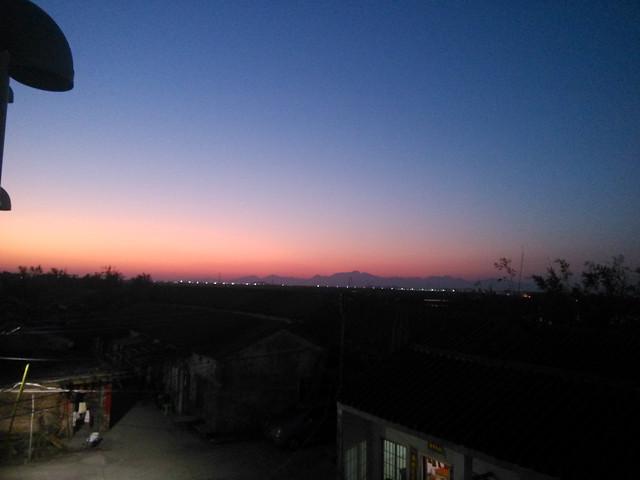 sunset-sky-evening-dawn-moon 图片素材