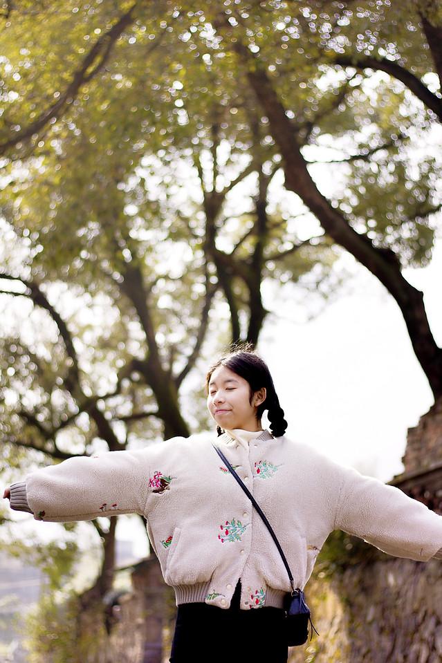 tree-girl-nature-park-flower 图片素材