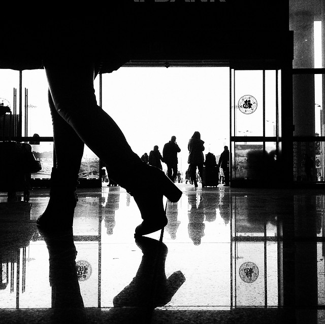people-silhouette-monochrome-street-man picture material