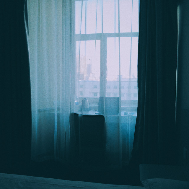 window-no-person-curtain-dark-blue picture material