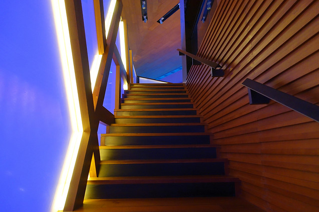 step-no-person-stairs-blue-light picture material