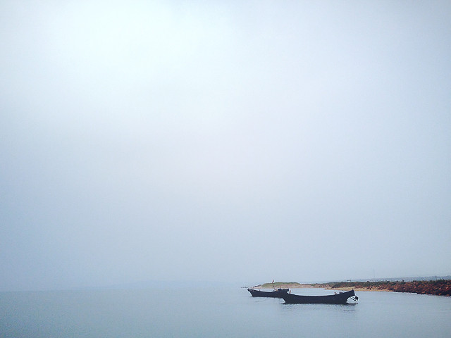 water-fog-no-person-mist-boat picture material