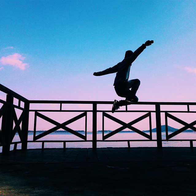 balance-jump-skateboard-action-sky picture material