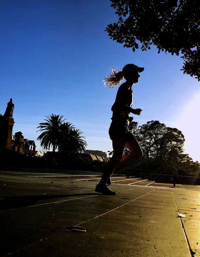 people-sunset-street-shadow-silhouette picture material
