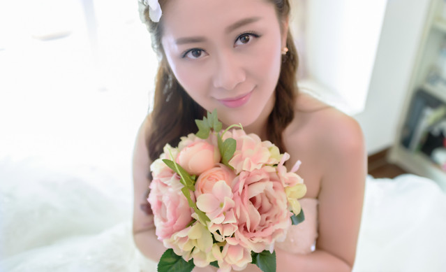 flower-woman-love-bride-flower-bouquet picture material