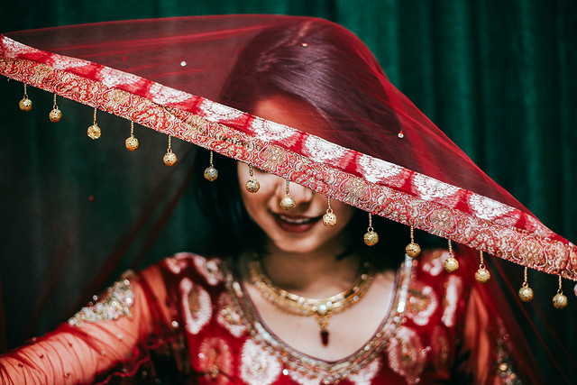 festival-veil-people-wear-red picture material