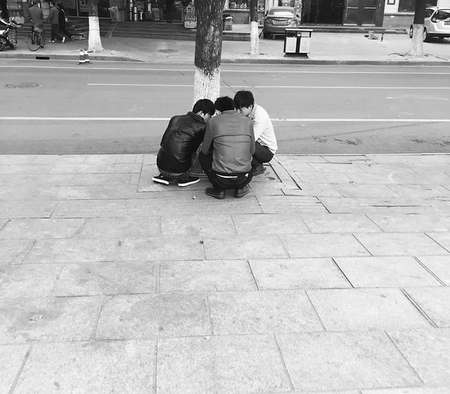 street-people-monochrome-pavement-adult picture material